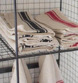 Kalalou Cotton Kitchen Towel-Black Stripe