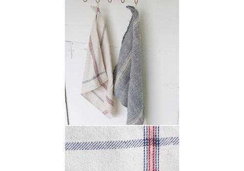 Kalalou Cotton Kitchen Towel- Red, Blue and Gold