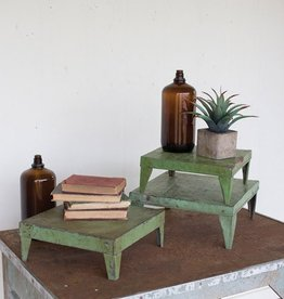 Kalalou Green Metal Display Risers/Set of 3