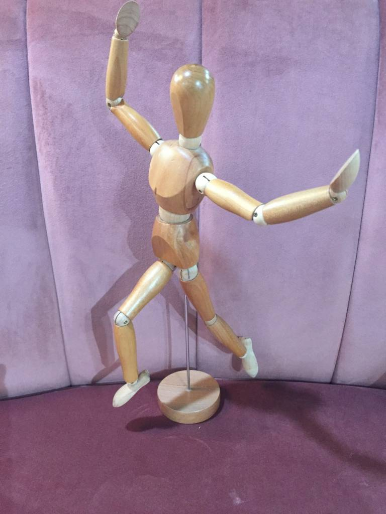 Vintage Vintage Wooden Art Figurine