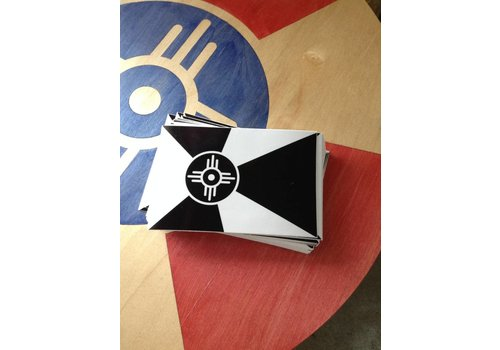 "The Workroom Wichita Flag Black & White Decal 3.5""x5.25"""