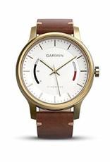 GARMIN Garmin, Vivomove Premium, Watch, Gold-tone steel/ Light brown leather band, 010-01597-23