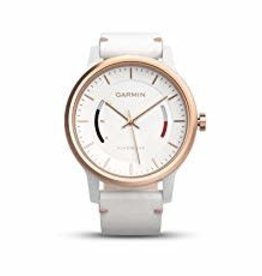 GARMIN Garmin, Vivomove Classic, Watch, Rose gold tone/ White leather band