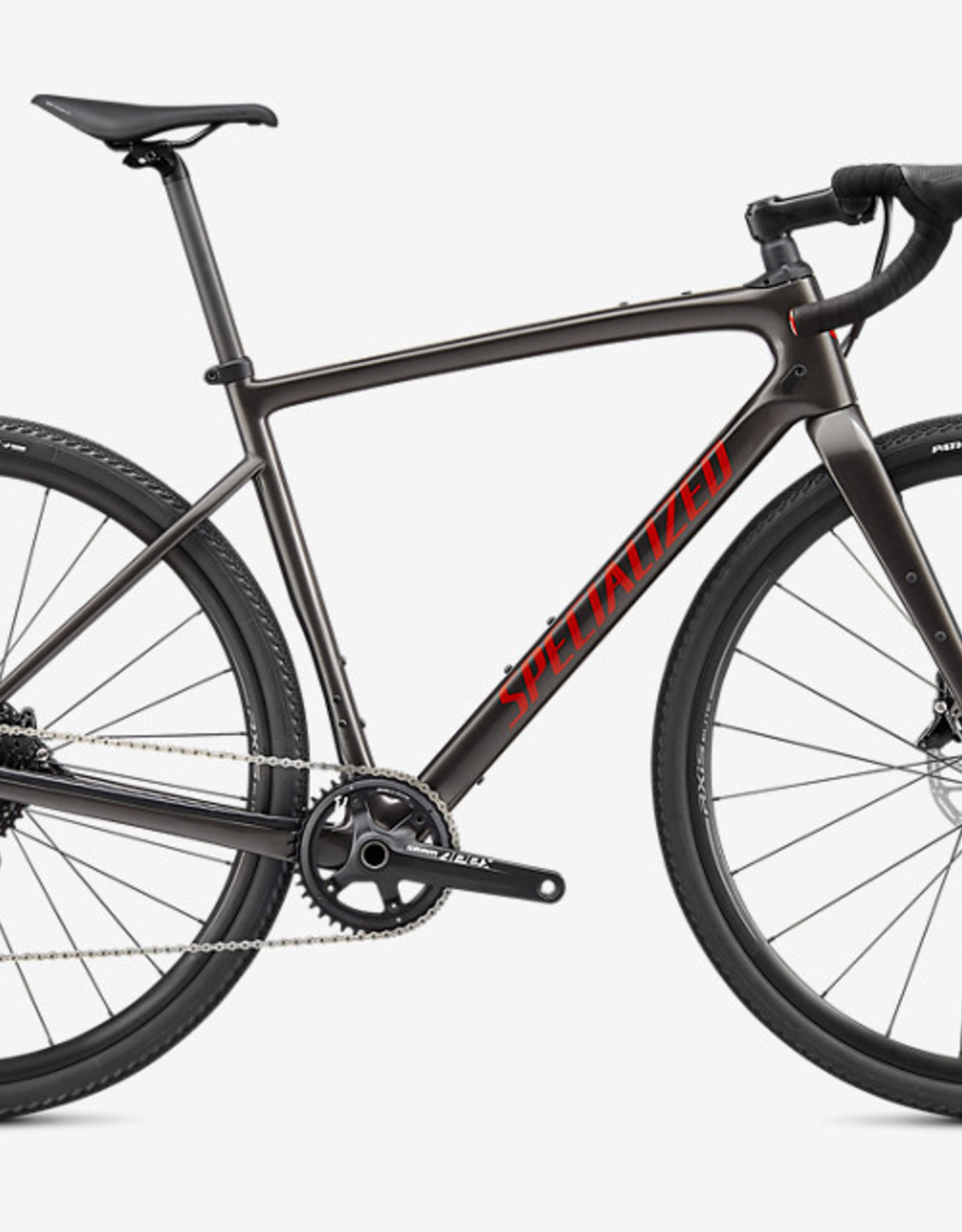 SPECIALIZED DIVERGE CARBON Gloss Smoke/Redwood/Chrome/Clean 56