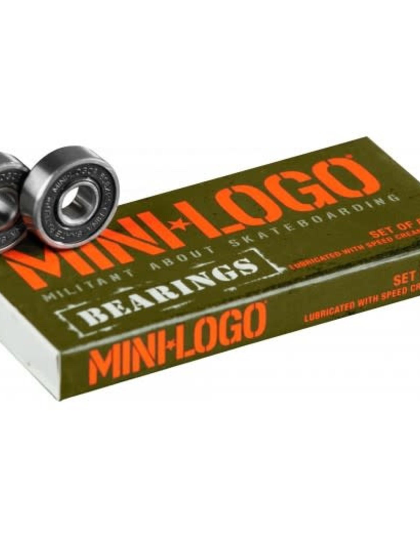 MINI MINI LOGO BEARINGS (single box set of 8)