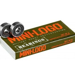 MINI MINI LOGO BEARINGS (single box set of 8)