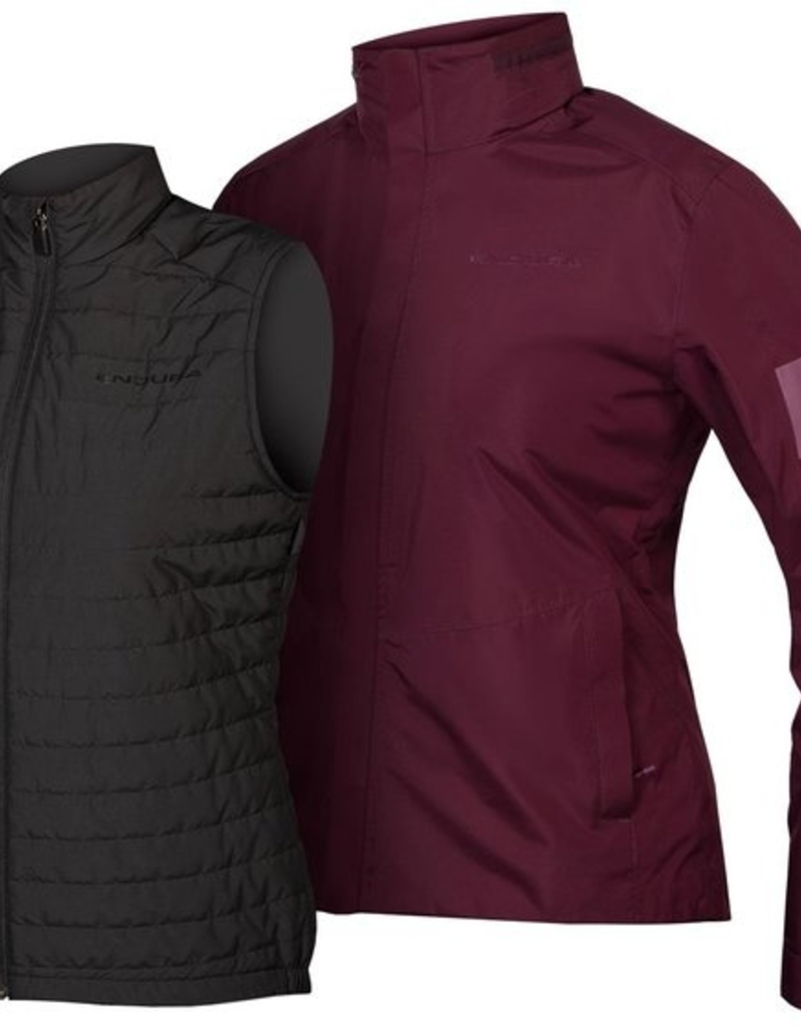 ENDURA Endura Urban 3 in 1 Waterproof Jacket Women's Berry