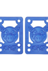 PIG WHEELS PIG RISERS - SHOCK PADS SOFT (OS) Blue