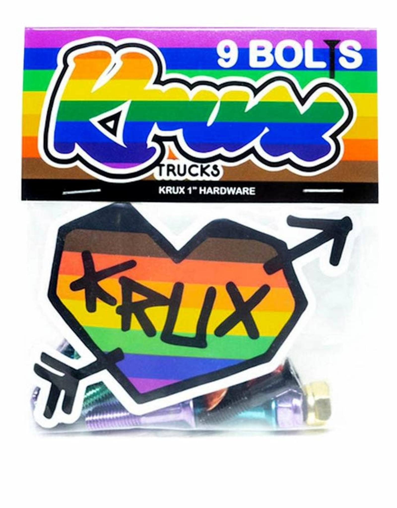 KRUX HARDWARE KROME PHILLIPS 1IN RAINBOW