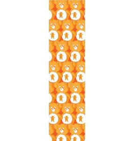 GRIZZLY GRIZZLY GRIP SHEET POSITIVE BEARS PRINT ORANGE
