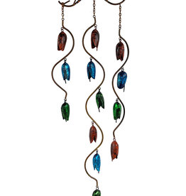 Triple Bell Spiral Wind Chime