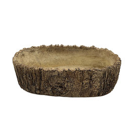 White Oak Oval Planter - 10 Inch