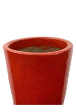 Tall Round Pot Red