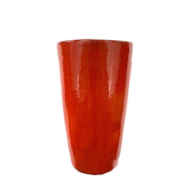 Tall Cone Pot Chili Red