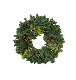 Holiday Greenery Wreath Round