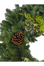 Holiday Greenery Wreath Round