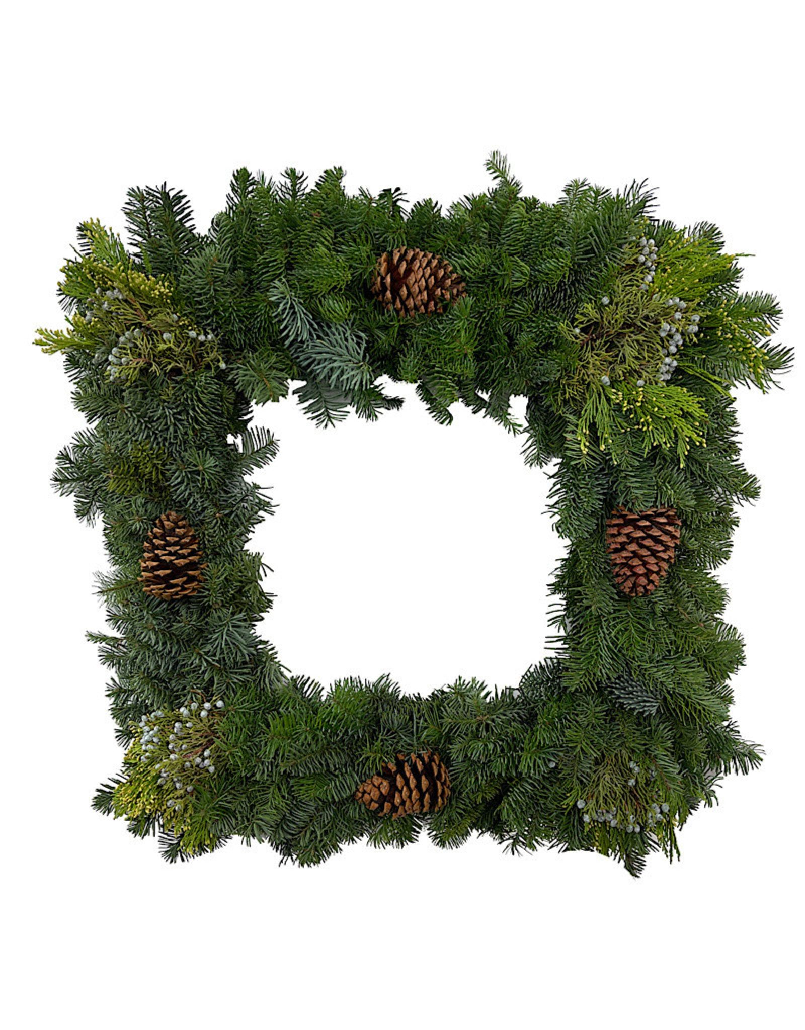 Holiday Greenery Wreath Square