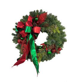 Designer Holiday Wreath 24 Inch #1