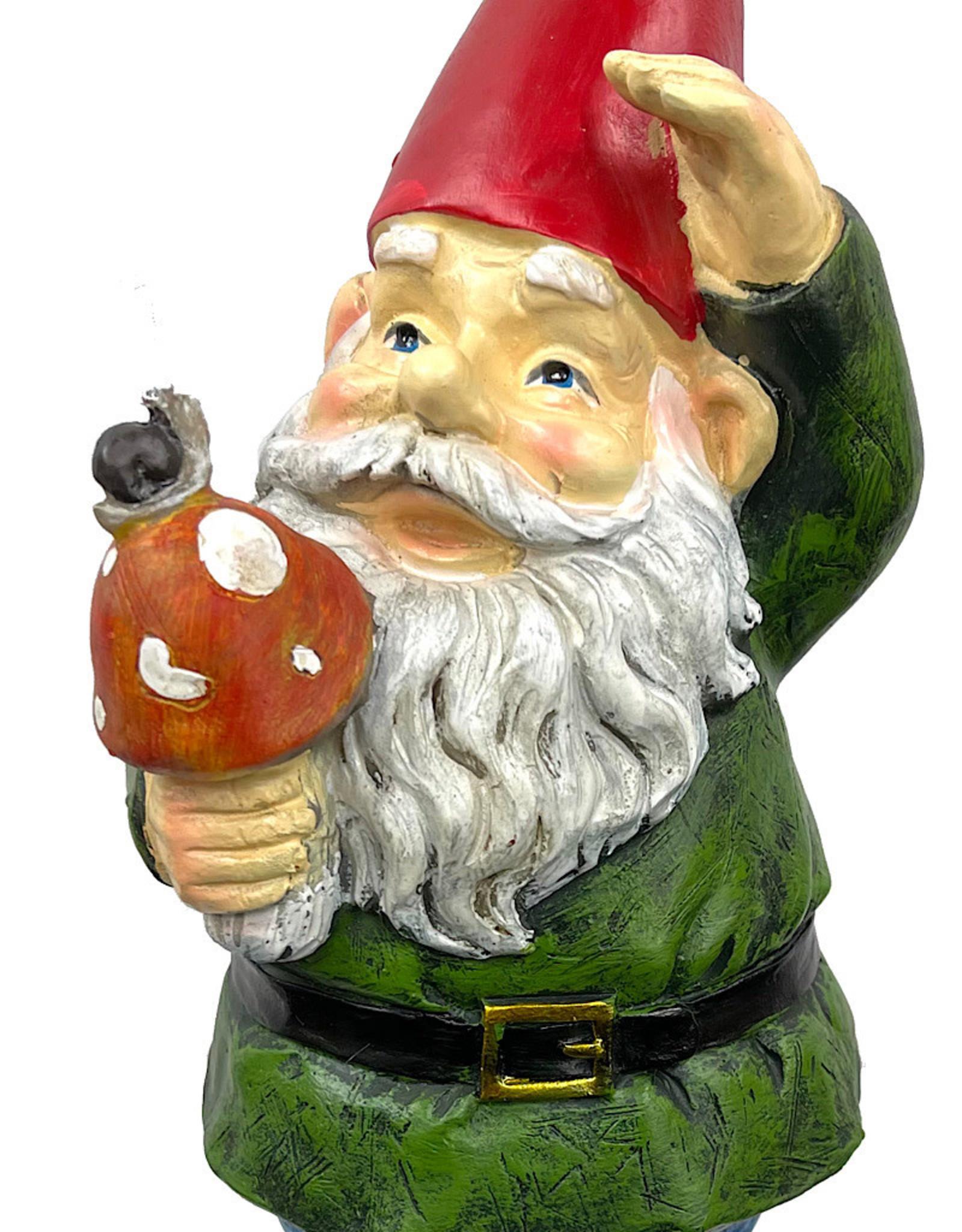 Garden Gnome With Mushroom