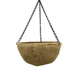 Burlap Hanging Basket 12 Inch