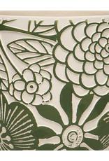 Green Floral Motif Pot