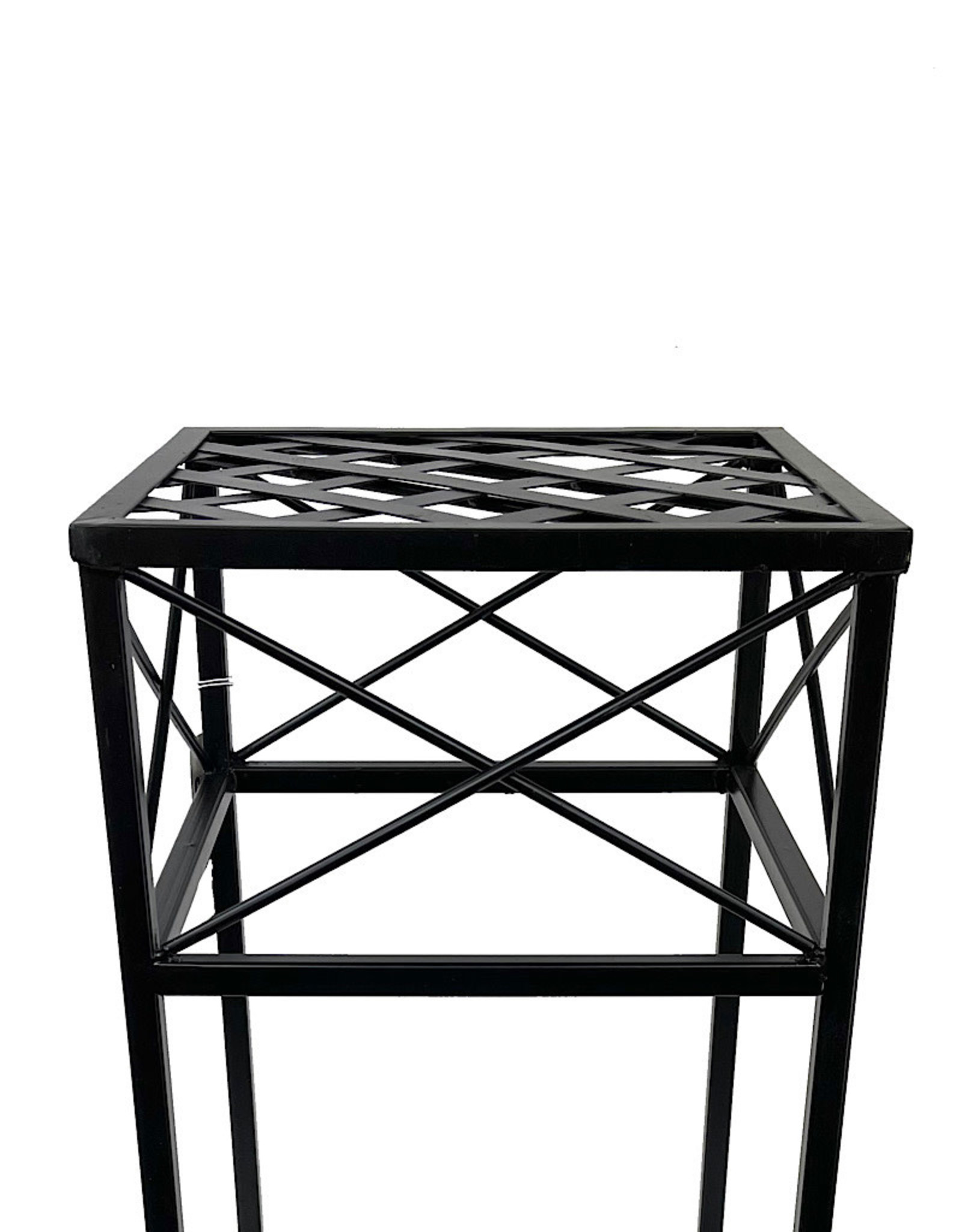 Nested Cross Hatch Plant Stand