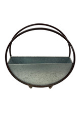 Small Galvanized Hoop Planter 12 Inch