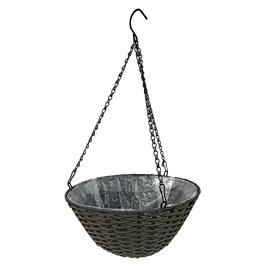 Resin Woven Hanging Basket
