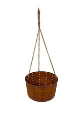 Perforated Hanging Baskets w/Jute Hanger 12 Inch