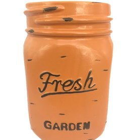 Mason Jar Pot - Orange - Large