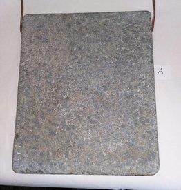 "Soap Stone Bed Warmer w/Bail Handle, 10x12"", E.1900's"
