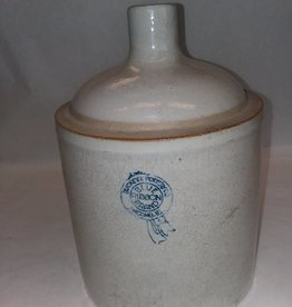 Buckeye Pottery Blue Ribbon Stoneware Jug, c.1930, 1 Gallon