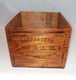 "Wood Carpenter's Chalk Box, 7.75x8.5x6"", E.1900's"