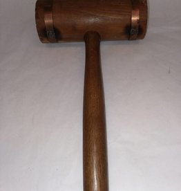 "Copper Banded Carpenter's Mallet 13.5"" long, 1950's"