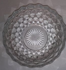 "Fostoria American Pattern Glass Bowl, 8.5"", 1950's"