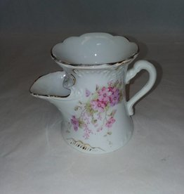 """Floral Mustache Cup, 4"""" Tall, L.1800's"""