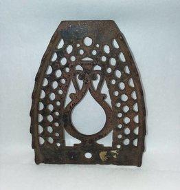 "Cast Iron Sad Iron Rest w/3 Feet, 5.75"", c.1920's"