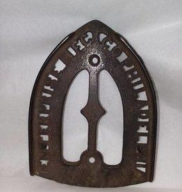 """Enterprise Cast Iron, Iron Rest, w/3 feet, 6.25"""", L.1800's"""