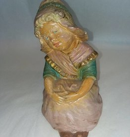"Painted Chalkware Dutch Girl, 7x5"", c.1940"