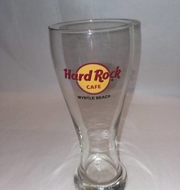 Hard Rock Cafe Pilsner Glass Myrtle Beach SC, Souvenir, 18 Ounce, 1990's