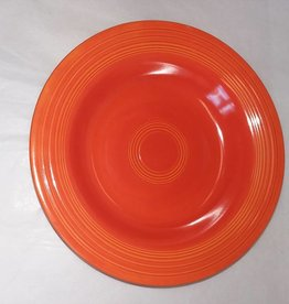 "Early Fiesta Red Soup Bowl/Deep Plate, 8.5"", E.1940's"