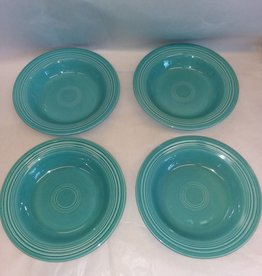 """Early Fiesta Turquoise Soup Bowl/Deep Plate, 8.5"""", c.1940"""