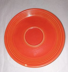 "Early Fiesta Red Saucer, 6"", E.1940's"