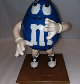 Blue M&M Candy Dispenser in Saddle Shoes, 10""