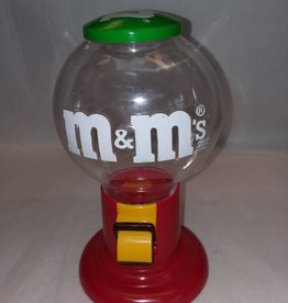 "M&M Candy Dispenser, Plastic, 9.5"", 1991"