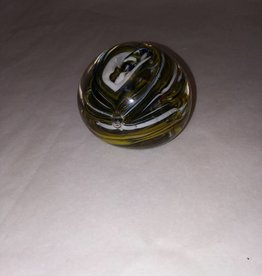 "Paperweight, Swirled Glass, E.1900's, 2.5"" Diameter"