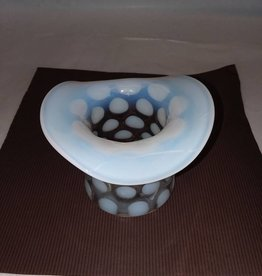 Fenton Dot Optic Top Hat Vase 1939