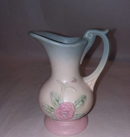 "Hull Open Rose Pattern Ewer/Pitcher, #128, 5.25"", M.1940's"
