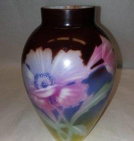 """Porcelain Hand Painted Vase, 9"""", E.1900's"""