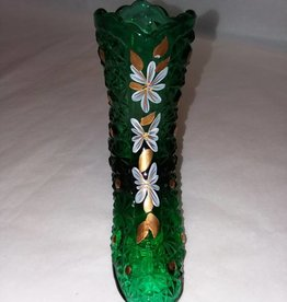 "Fenton Emerald Green Signed Boot, 4.25x4"", 2003"